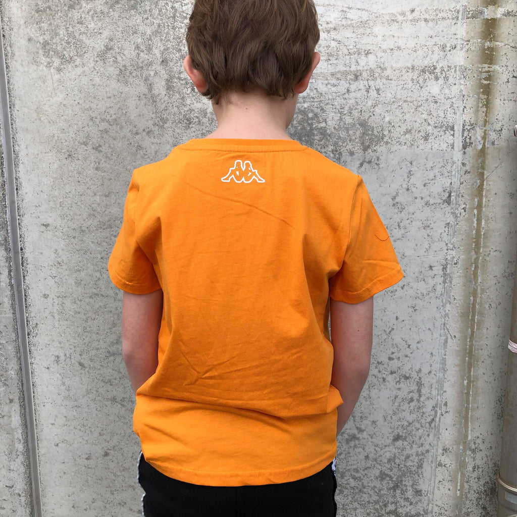 Kappa Jr. T-Shirt S/S, Logo Berk - Orange Overdeler Kappa