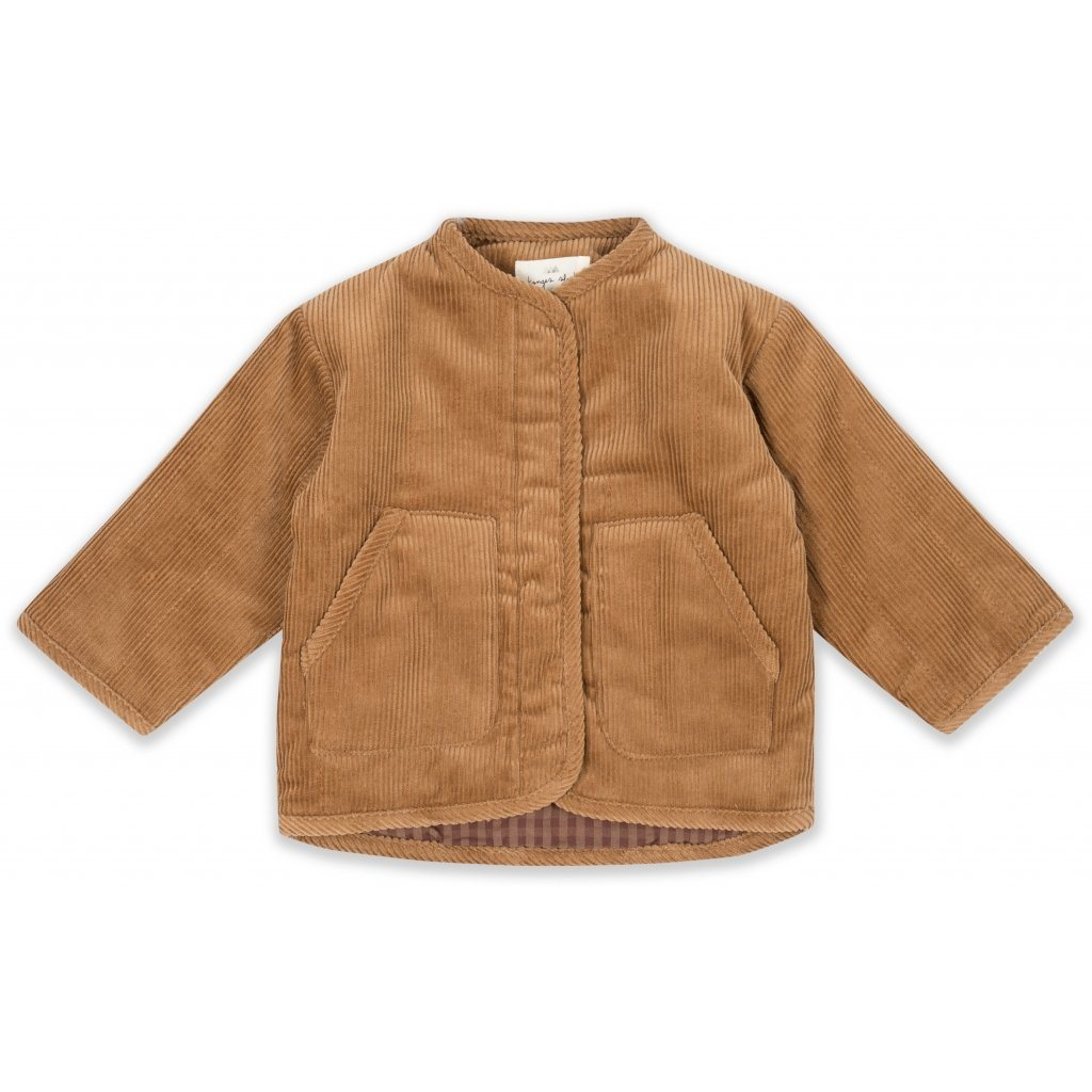 Konges Sløjd QUILTED JACKET - FADED BROWN - Torgunns Barneklær