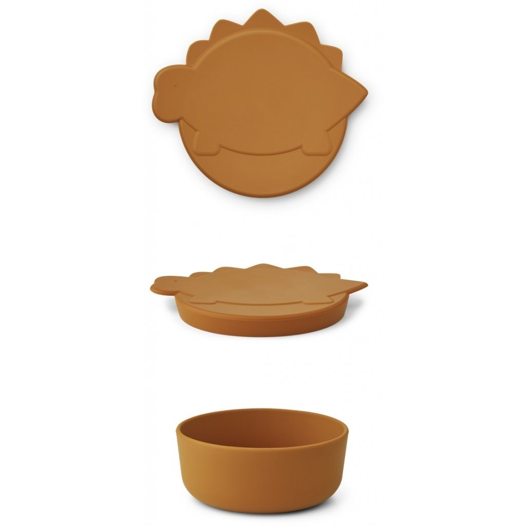 Liewood CHARLOT Snack Box - Dino Mustard Servise Liewood