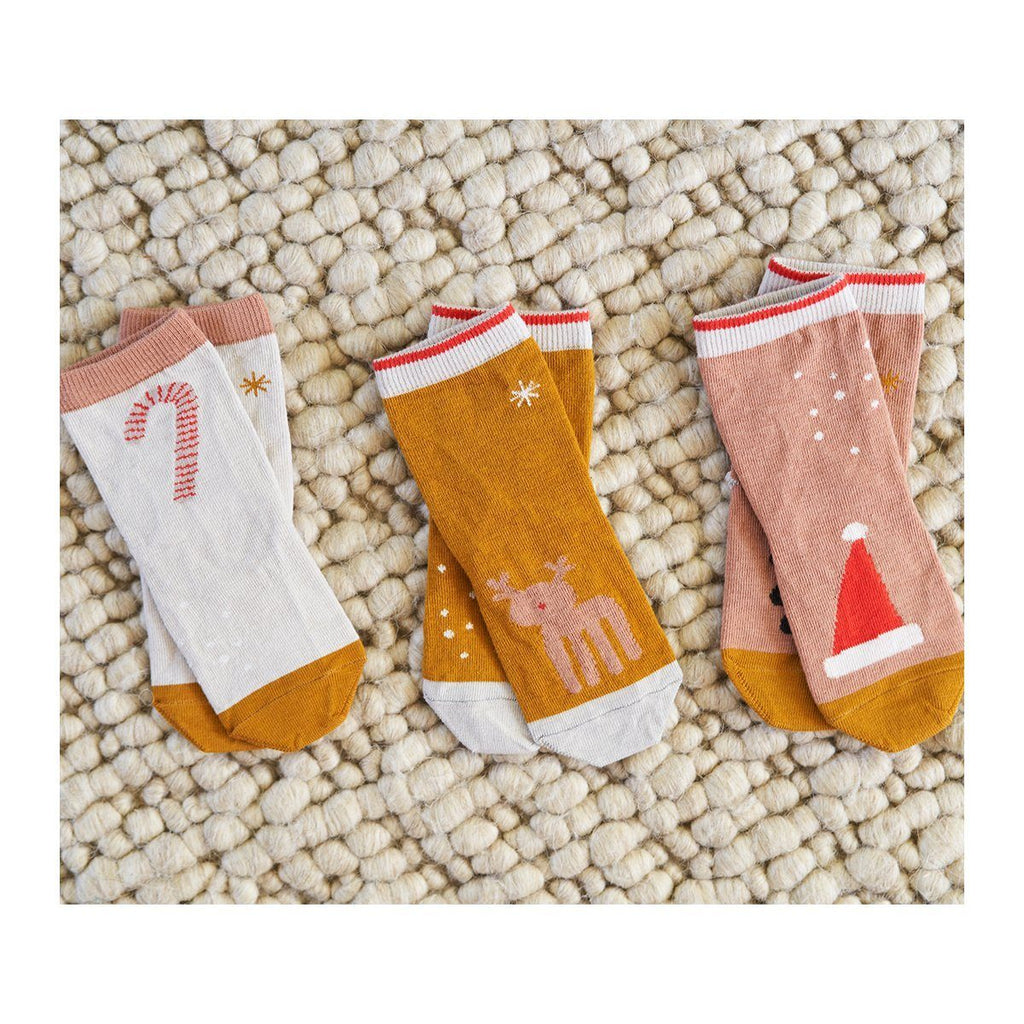 Liewood SILAS Cotton Socks 3 pk - Holiday Tuscany Rose Sokker Liewood