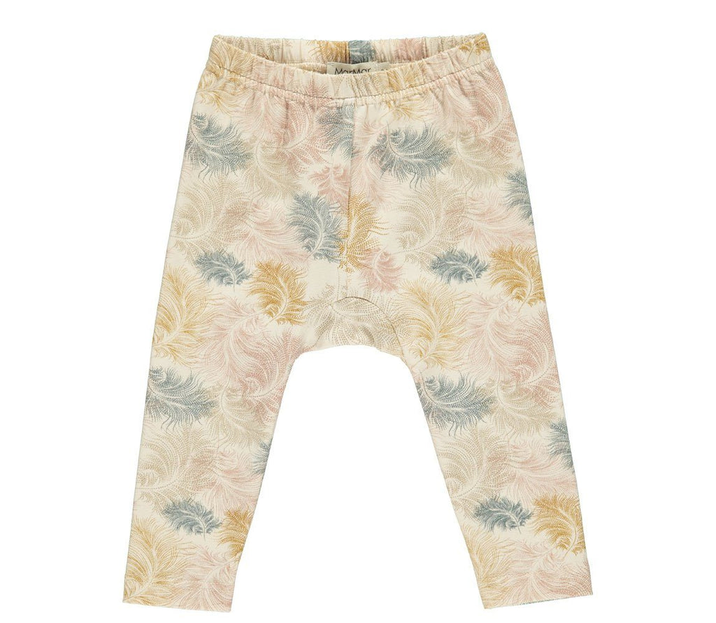 MarMar PAXI Pants Jersey Print - Feather Print Body MarMar