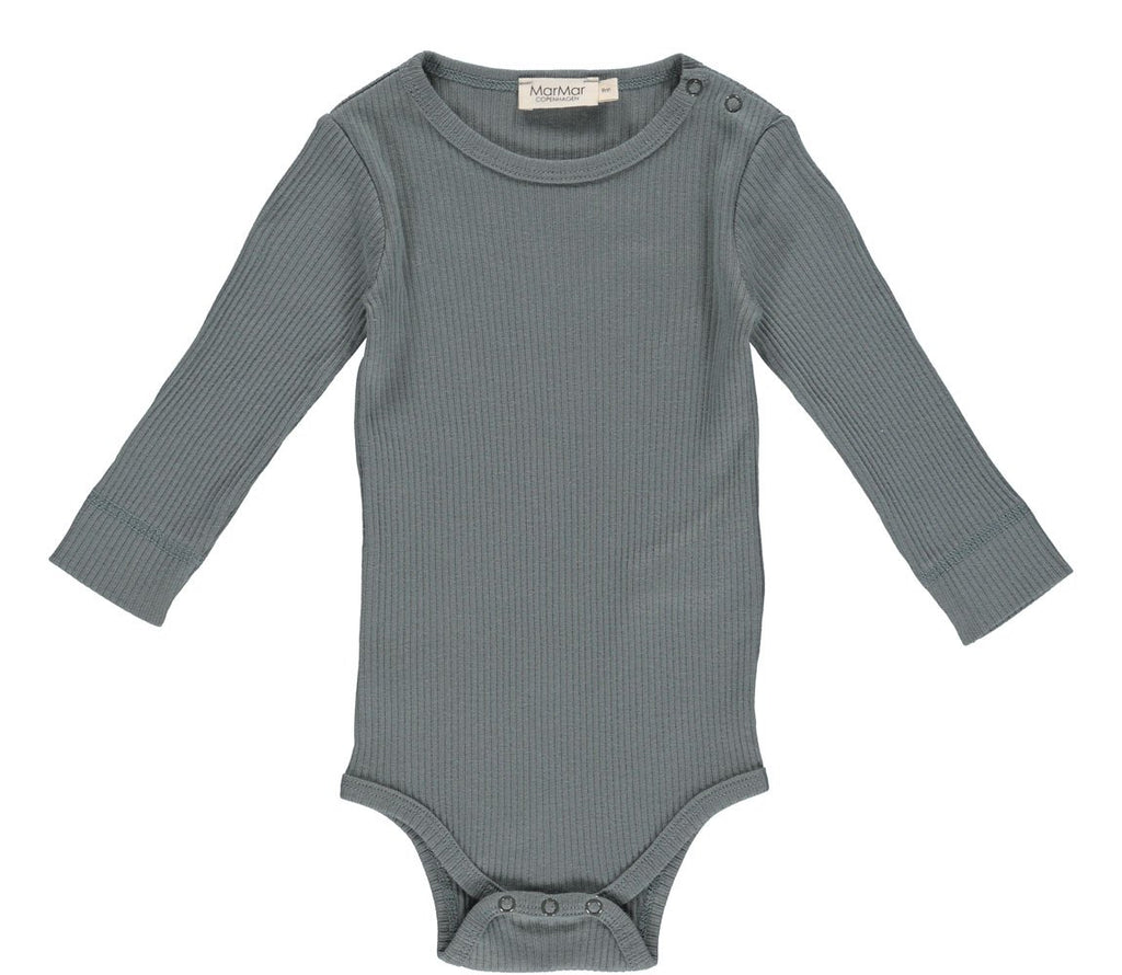 MarMar PLAIN Body LS Modal - Dusty Green - Torgunns Barneklær