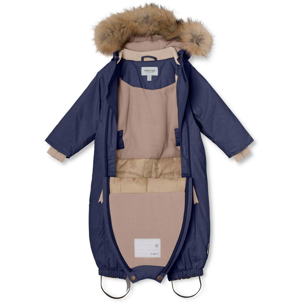 Mini A Ture Vinterdress WISTI m/Pels - Peacoat Blue Yttertøy Mini A Ture