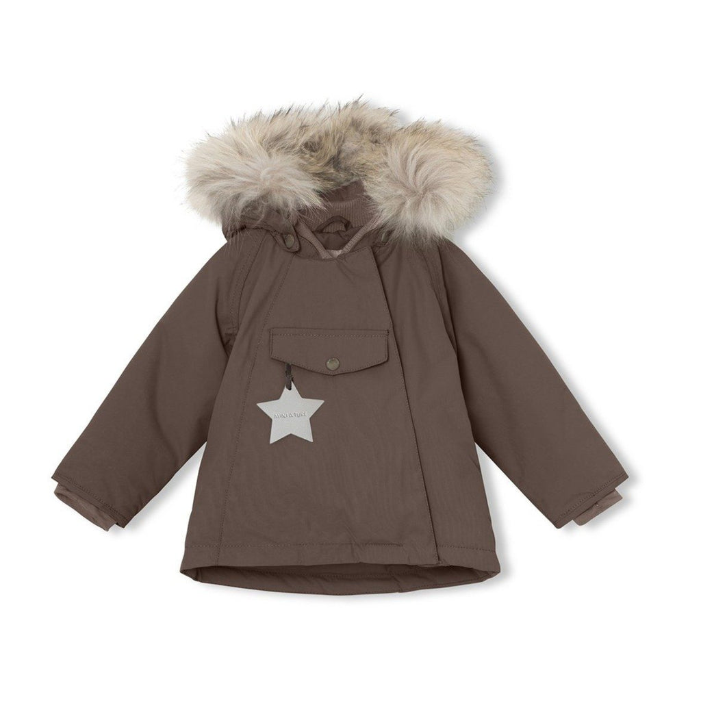 Mini A Ture Wang Fur Jacket, M - Dark Choco - Torgunns Barneklær
