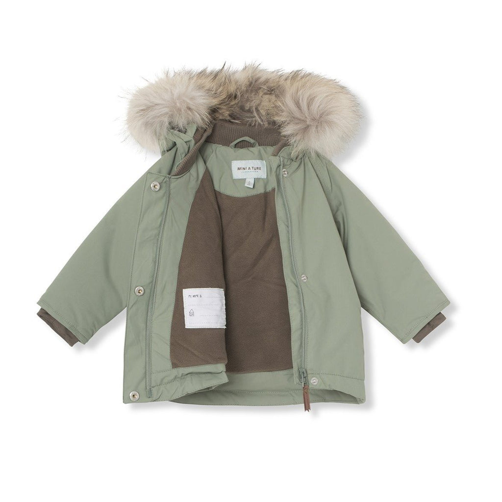 Mini A Ture Wang Fur Jacket, M - Sea Spray - Torgunns Barneklær