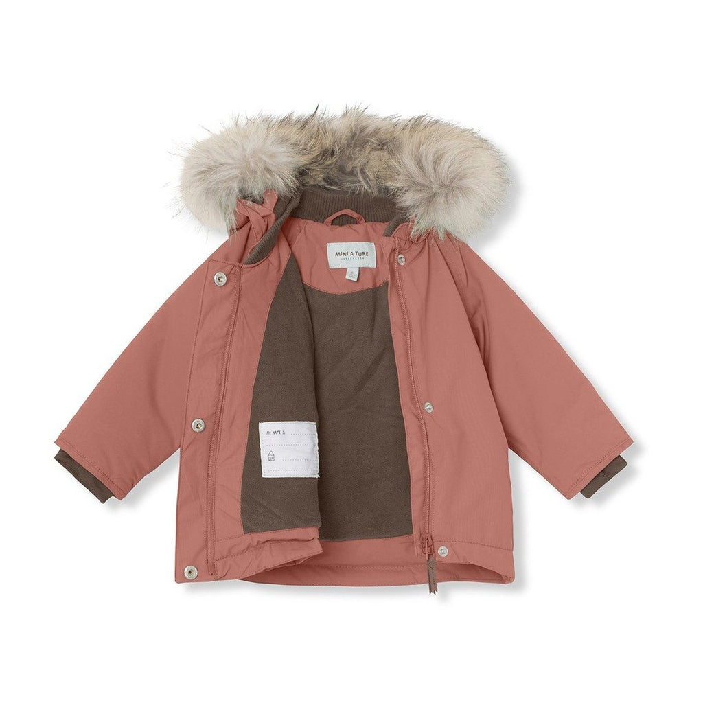 Mini A Ture Wang Fur Jacket, M - Withered Rose - Torgunns Barneklær