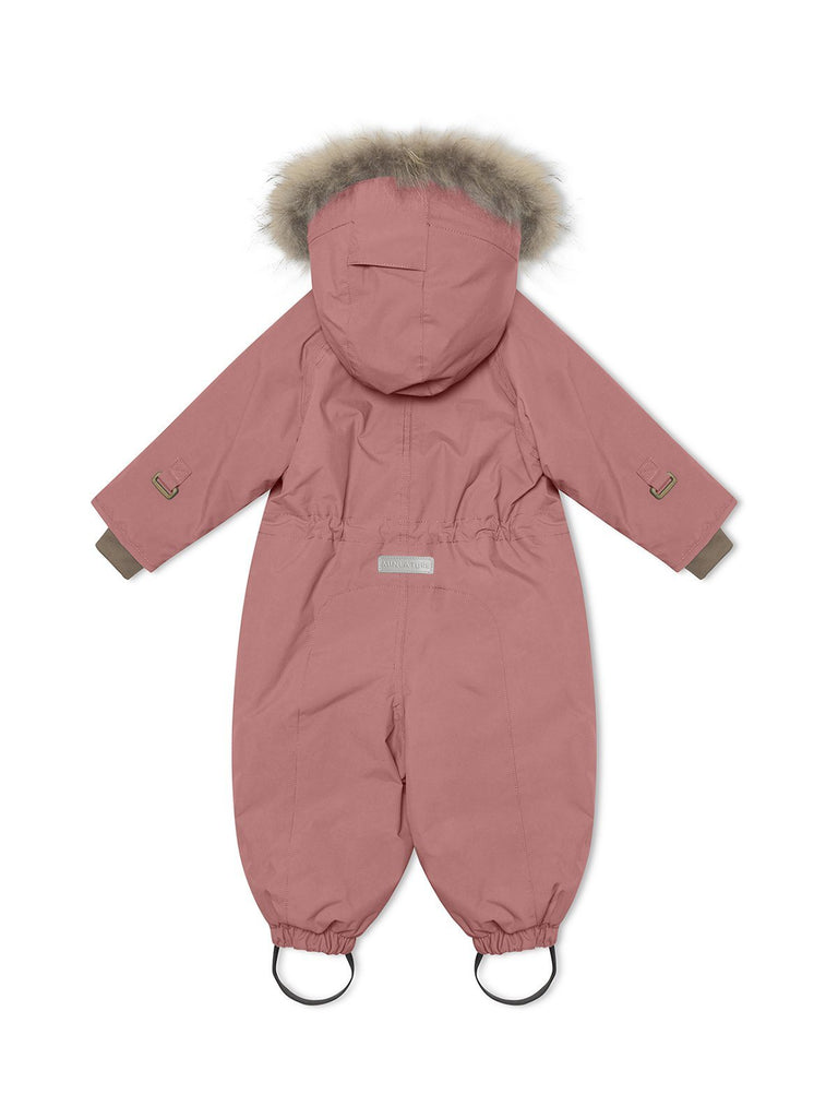 Mini A Ture Wisti Fur Snowsuit, M - Withered Rose - Torgunns Barneklær