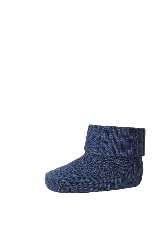 mp Denmark WOOL Ribb Sokker - DENIM MELANGE Sokker MP
