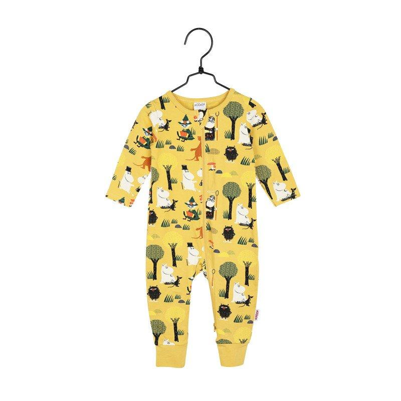 "MUMMI ""Forest Walk"" Pyjamas - Yellow - Torgunns Barneklær"