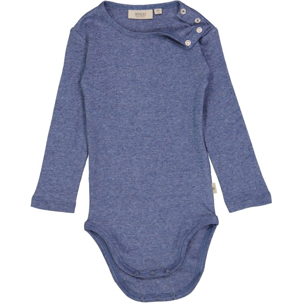 Wheat Body RIB - Blue Melange Body Wheat