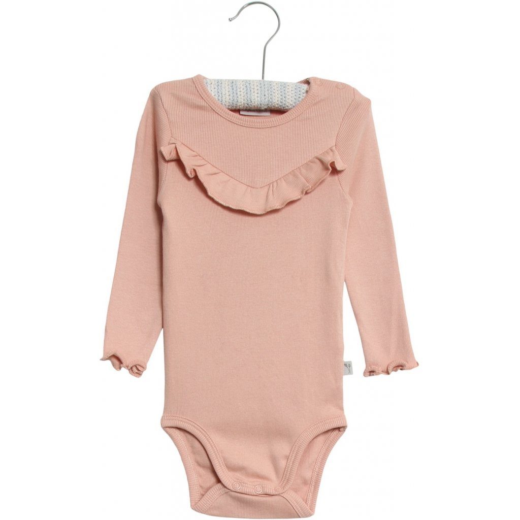 Wheat Body RIB RUFFLE LS - Misty Rose Body Wheat