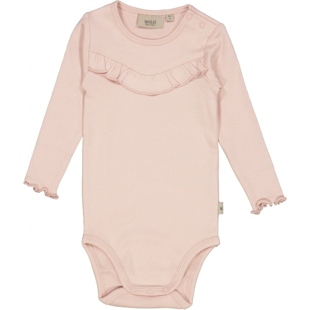 Wheat Body RIB Ruffle LS - Powder Body Wheat