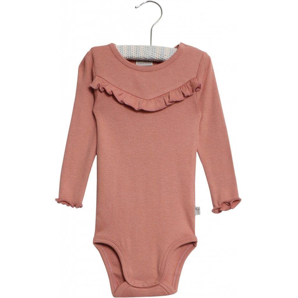Wheat Body RIB RUFFLE LS - Soft Peach Rose Body Wheat