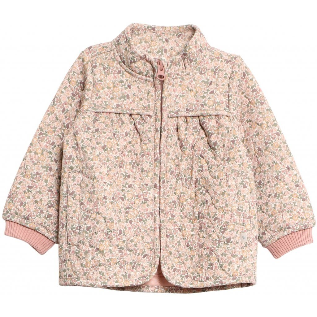 Wheat Outerwear Thermo Jacket THILDE - Eggshell Flowers Yttertøy Wheat