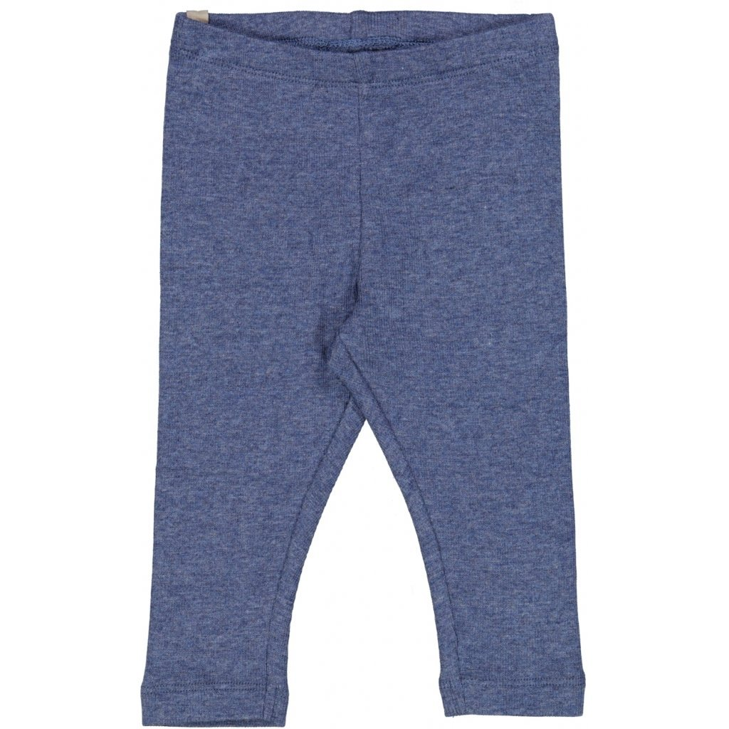 Wheat Rib Leggings - Blue Melange Underdeler Wheat