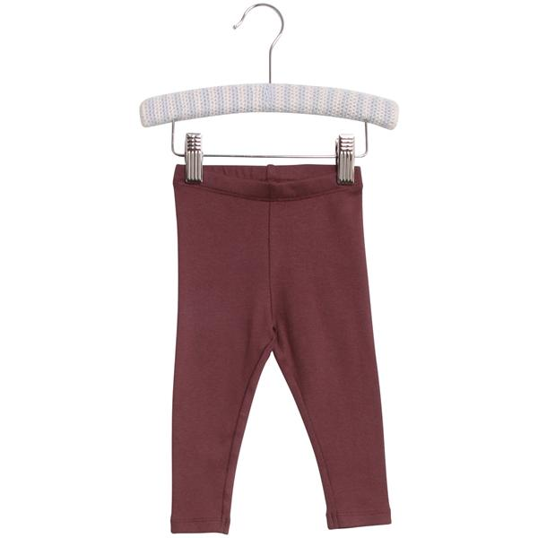 WHEAT RIB Leggings - Burgundy - Torgunns Barneklær
