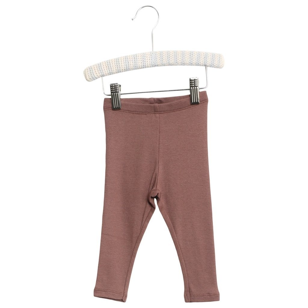 WHEAT RIB Leggings - Powder Plum - Torgunns Barneklær