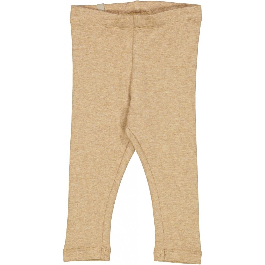 Wheat RIB Leggings - Sand Melange Underdeler Wheat