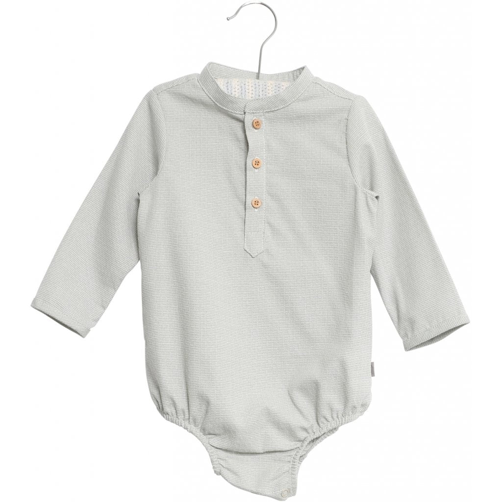 Wheat Romper Shirt VICTOR - Dusty Dove Romper Wheat