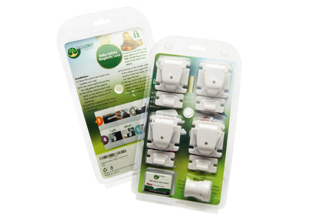 4-Pack Magnetic Child Safety Cabinet Locks and Key
