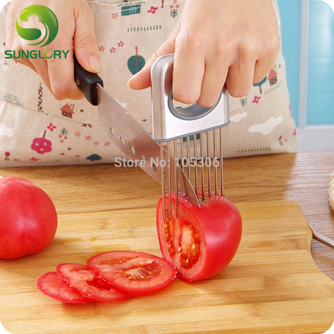 Stainless Steel Kitchen Accessory | Fruit Vegetable Slicer Meat Trenderize Needle Onion Holder Graters Tomato Cutter