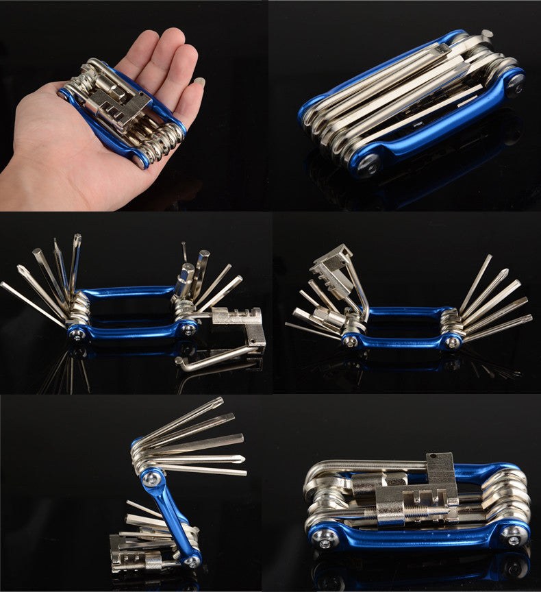 Metallic Bicycle Multi-Function Mini Pocket Repair Tools