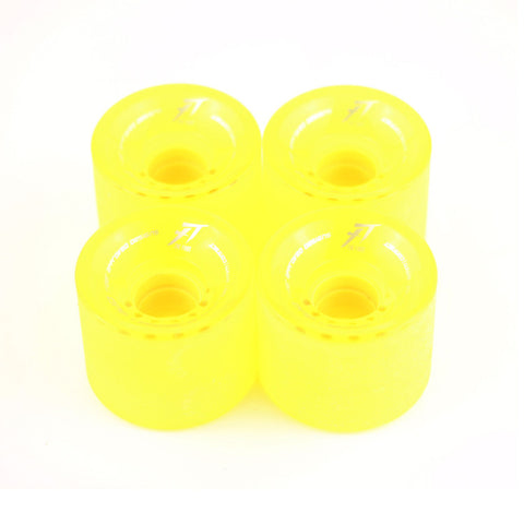 Top quality PU material 62mm road skateboard wheels - four in one bag