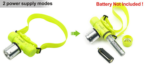 Underwater XML T6 Headlamp LED Waterproof 30m Swimming Diving Headlight