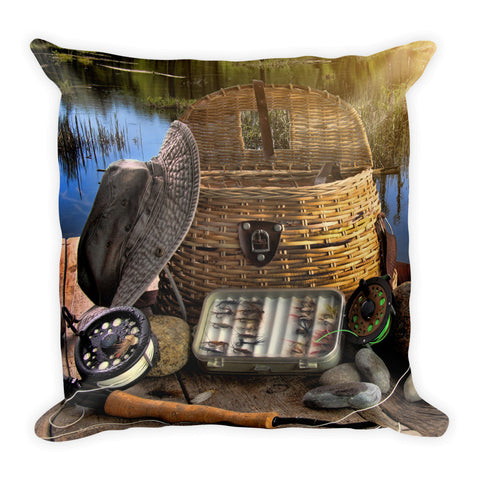 Square Pillow | Fishing
