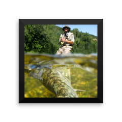 Framed photo paper poster | Fishing