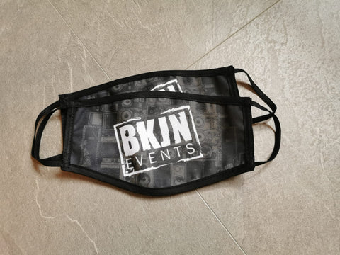 BKJN Logo Face Mask 2 Pieces
