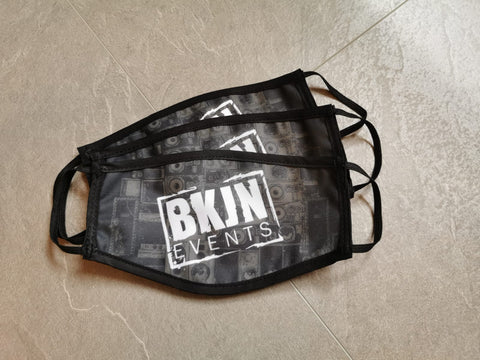 BKJN Logo Face Mask 3 Pieces