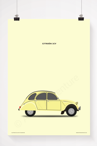 Citroën 2CV Portrait Yellow - Art of Adventure