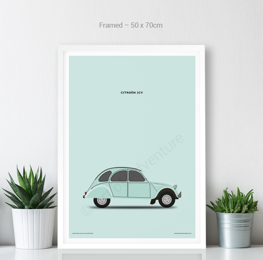 Citroën 2CV Portrait Teal - Art of Adventure