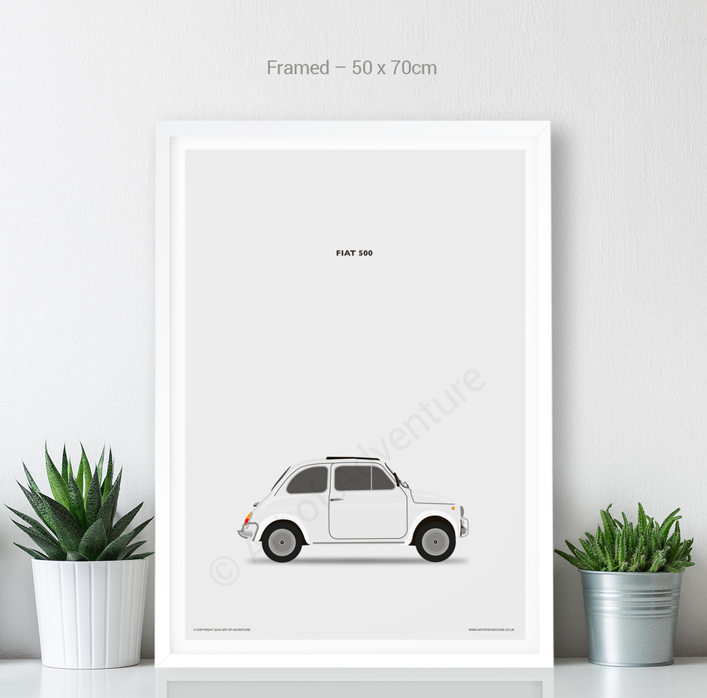 Fiat 500 White - Art of Adventure