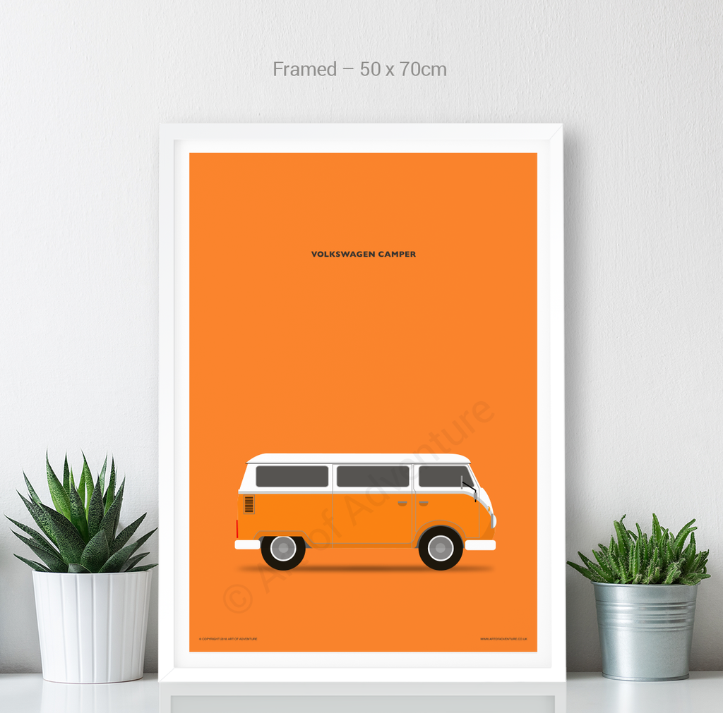 Volkswagen Campervan Portrait Orange
