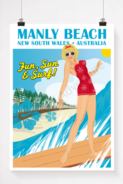 Blonde Surfer Girl – Manly Beach - Art of Adventure