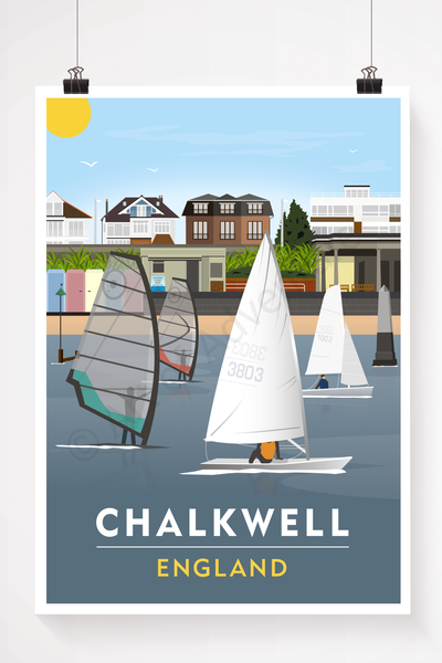 Chalkwell Beach illustration