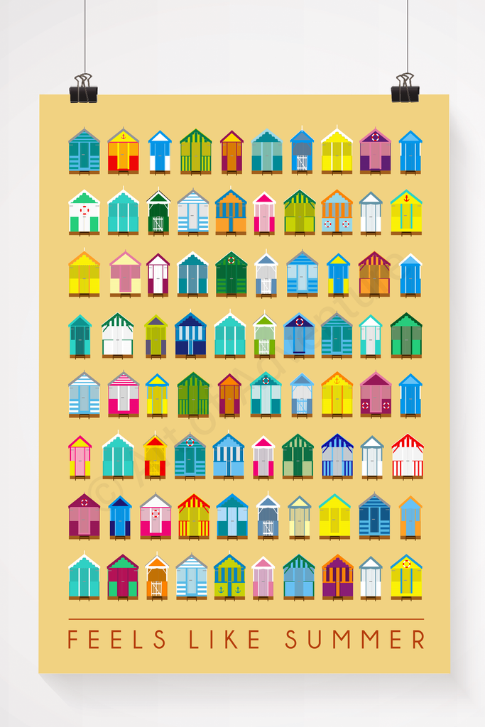Beach hut illustration