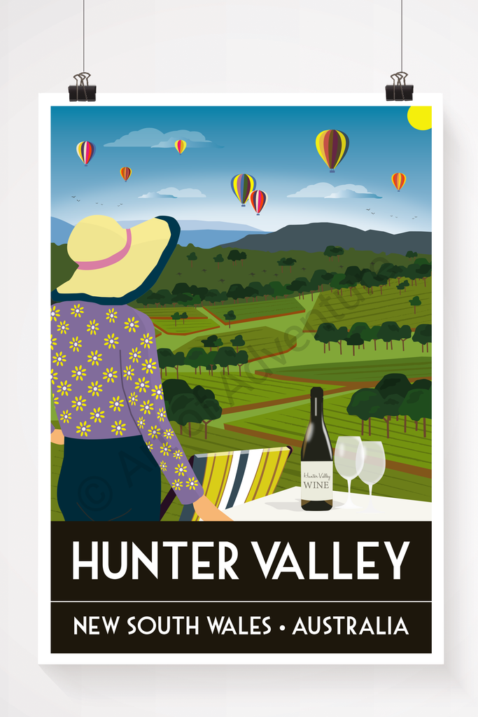 Hunter Valley, Australia illustration