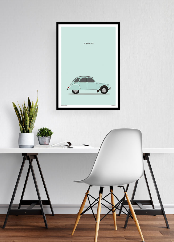 Citroën 2CV Portrait Teal