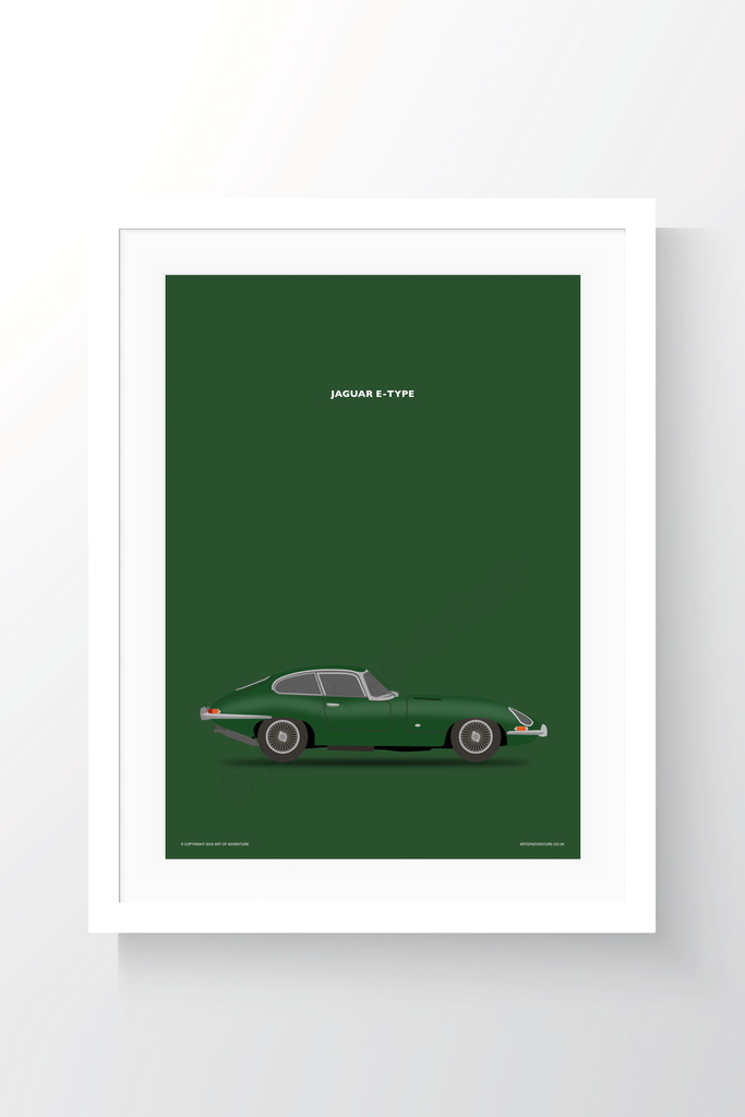 Jaguar E-Type Portrait British Racing Green