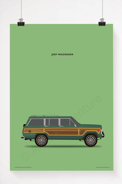 Jeep Wagoneer Portrait Green - Art of Adventure