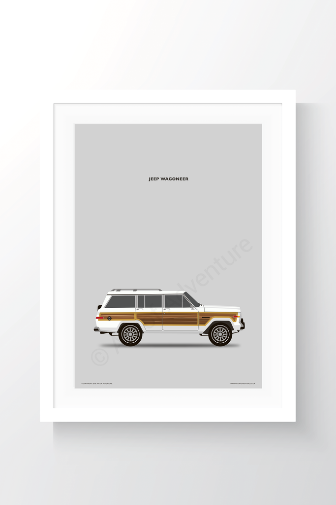 Jeep Wagoneer Portrait White - Art of Adventure