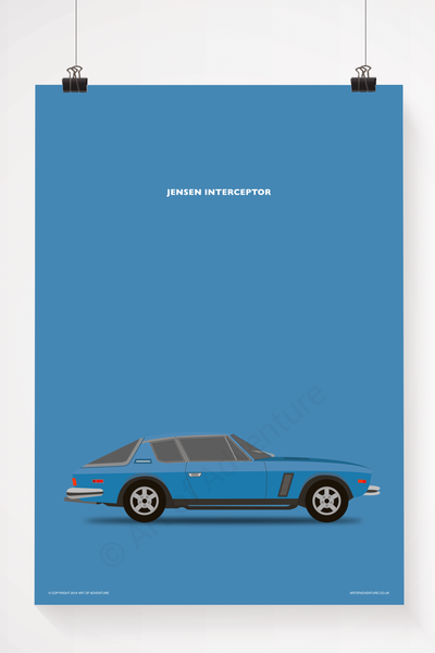 Jensen Interceptor Portrait Blue