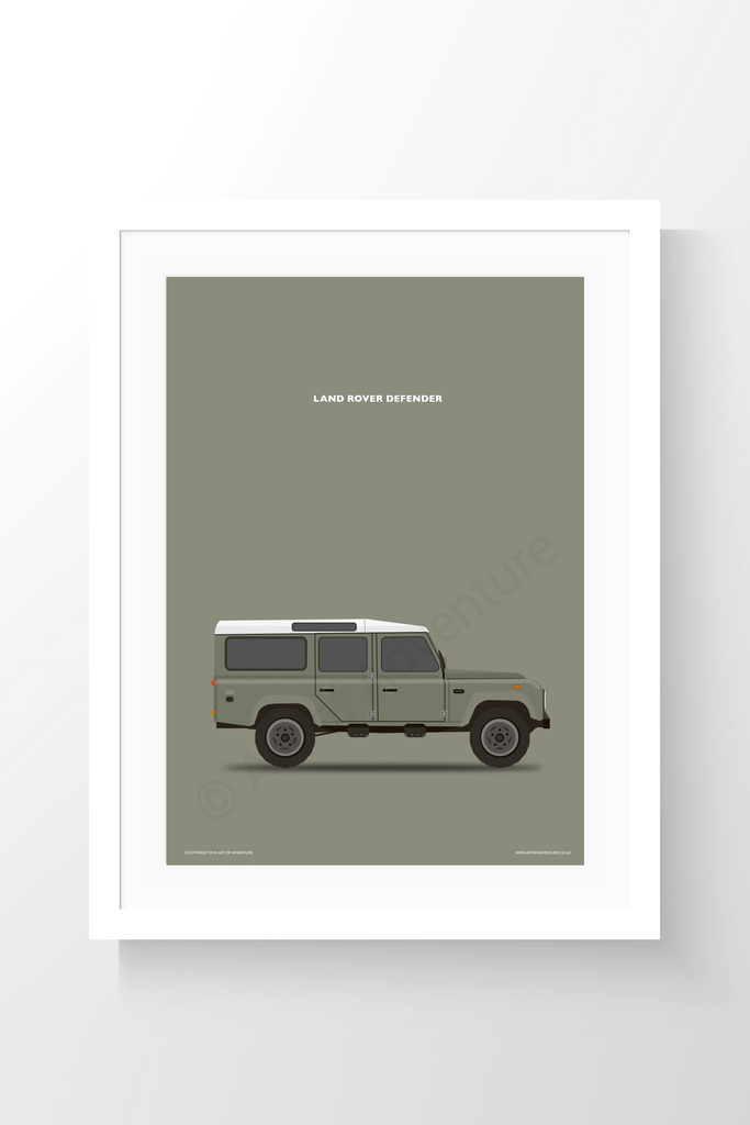 Land Rover Defender 110 Portrait Brown - Art of Adventure