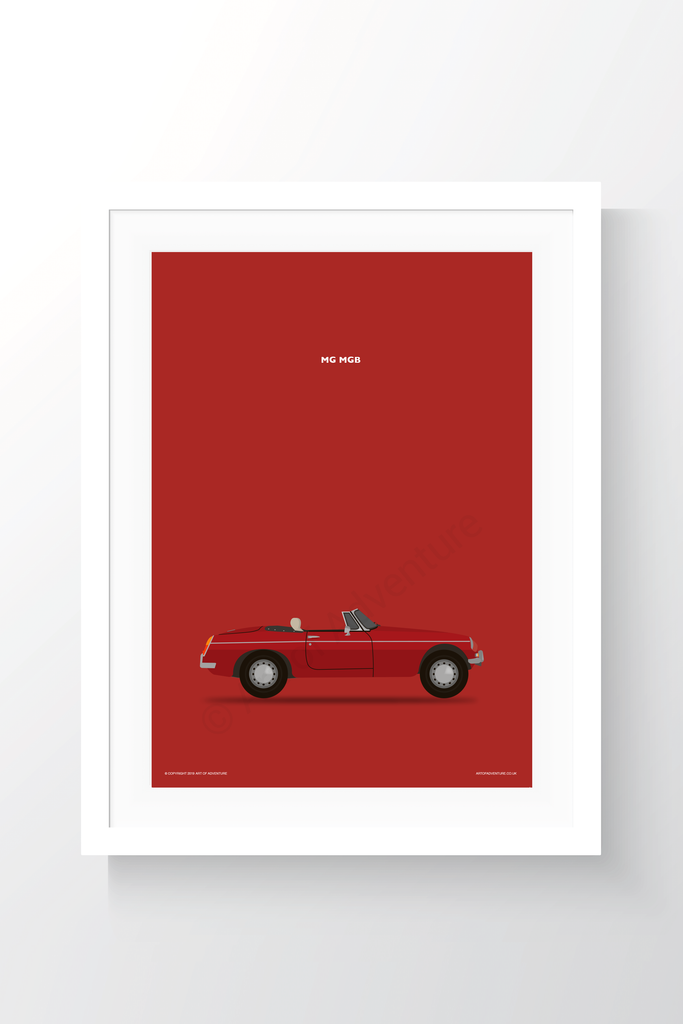 MG MGB Portrait Red