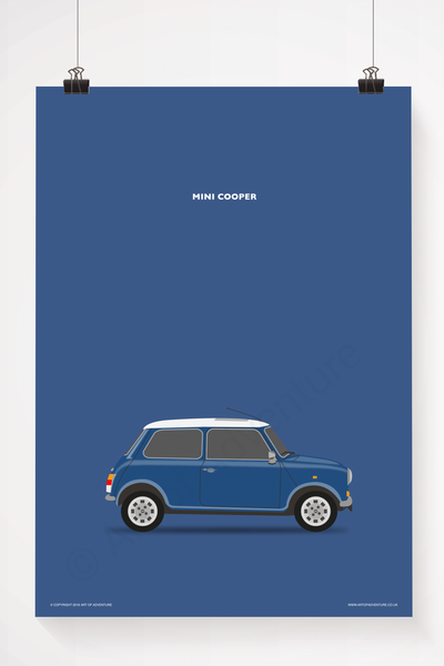 Mini Cooper Portrait Blue - Art of Adventure