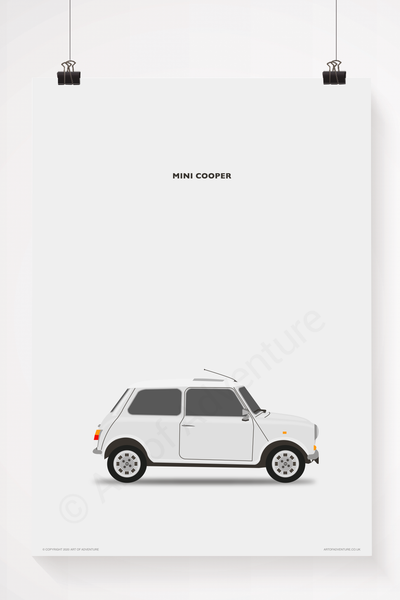 Mini Cooper Portrait White
