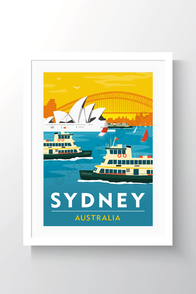 Harbour Ferries Sunset – Sydney - Art of Adventure